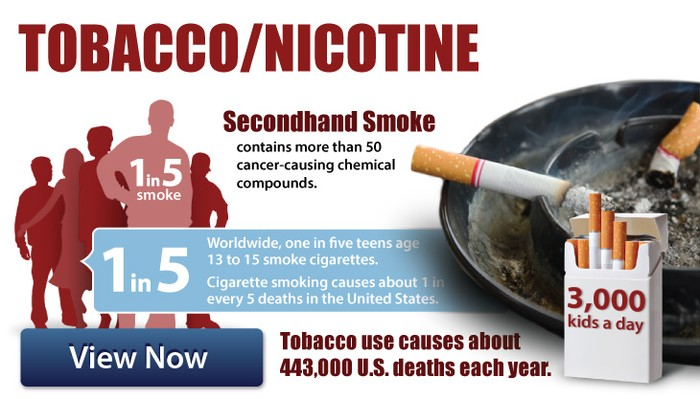 How smoking tobacco or being around it hurt your body system.