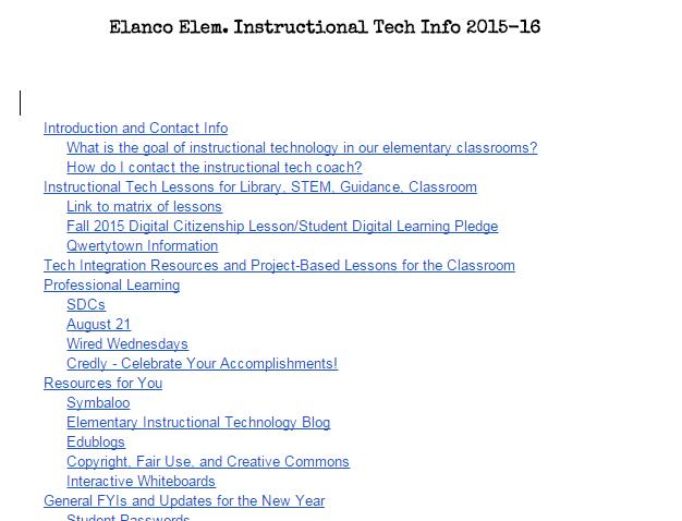 Google Apps Elanco Elementary Instructional Technology Page 2