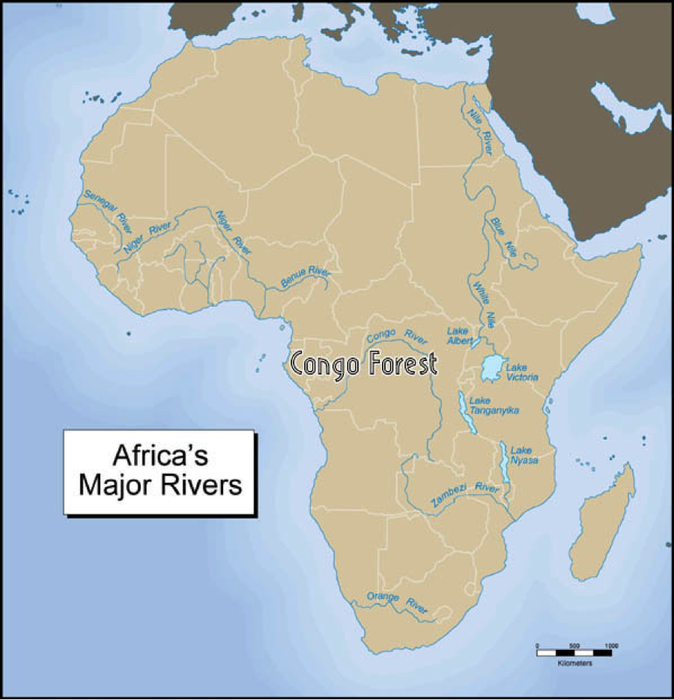 Africa Map Lakes.Congo Forest Great Lakes Regions Smore Newsletters