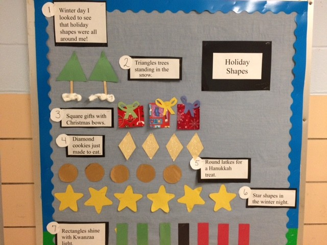 Retelling Stories and Recognizing Holiday Shapes in Kindergarten