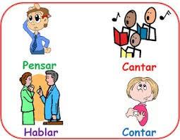 Resultado de imagen de imagen verbos primera conjugación