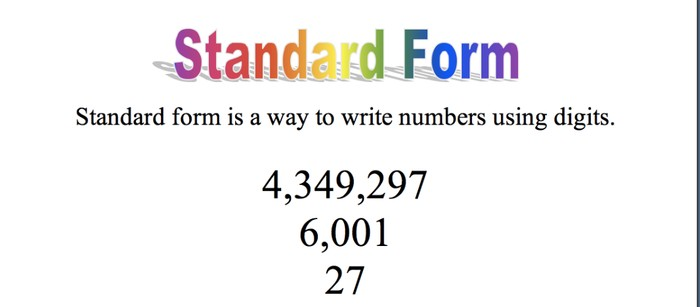 What Does Standard Form Means In Math Barearsbackyard