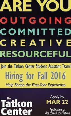 Tatkon Center  Hiring for Fall'16