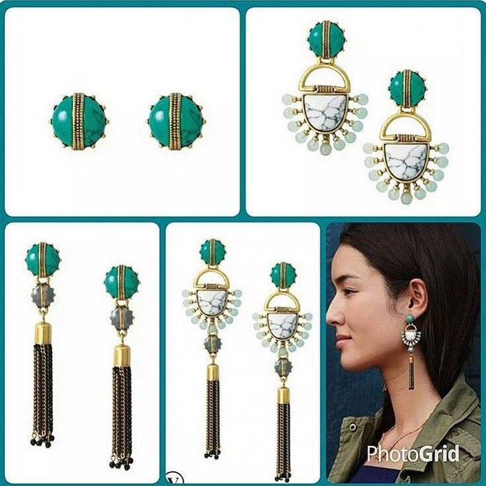 Totem Tassel Chandelier Earrings 4 In 1