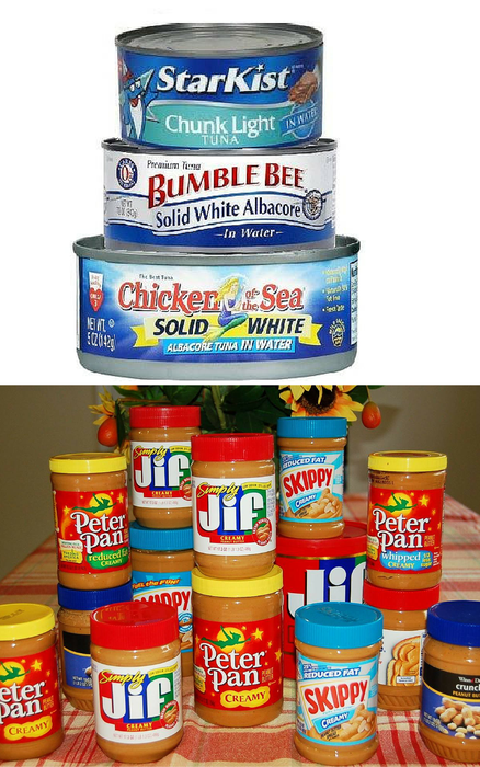 Collecting Peanut Butter and Tuna is this Sunday's Act of Mercy Collection for February