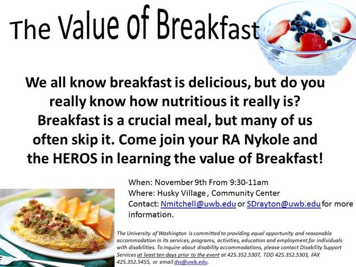 importance of having breakfast