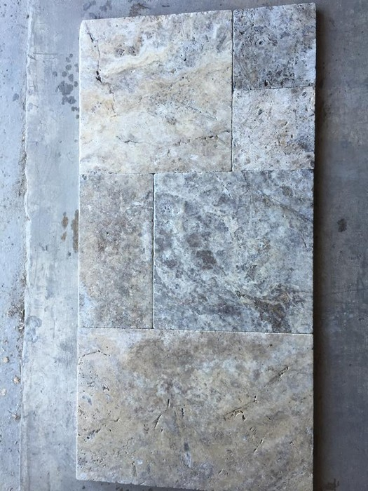 Silver Travertine Tumbled Pavers | Smore Newsletters for Business