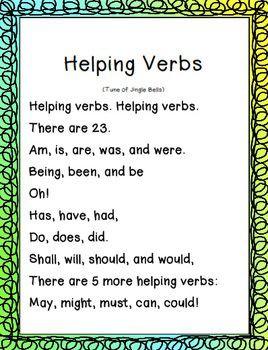past tense verbs anchor chart