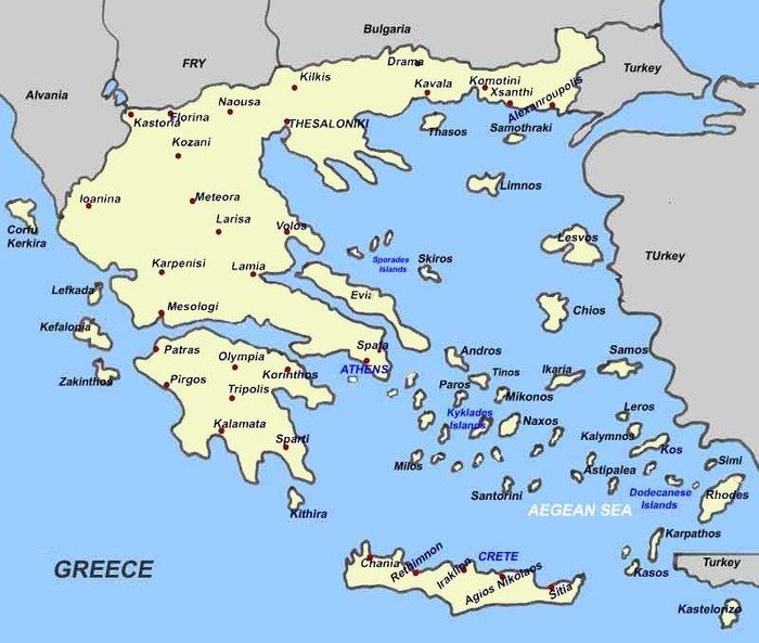 Ancient Greece – Ancient Greece Map Worksheet