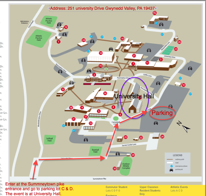 Gwynedd Mercy Campus Map.Bucks Mont Bcit Tech Integrators