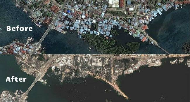 Tsunamis Before And After
