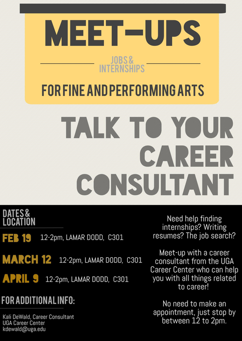 Fine U0026 Performating Art Meet Ups  Uga Career Center Resume