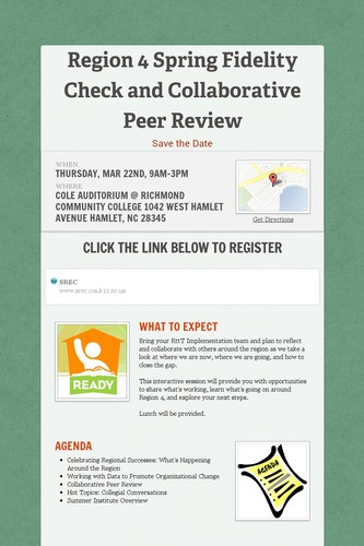 Region 4 Spring Fidelity Check and Collaborative Peer Review