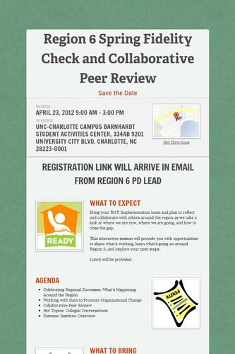 Region 6 Spring Fidelity Check and Collaborative Peer Review