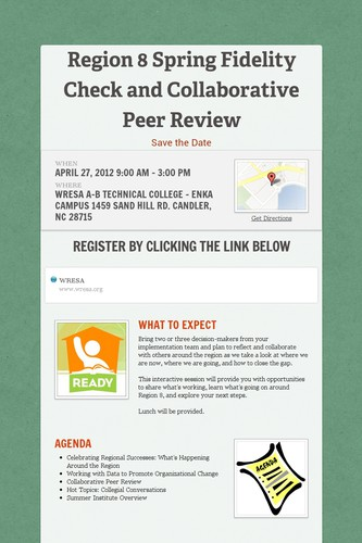 Region 8 Spring Fidelity Check and Collaborative Peer Review