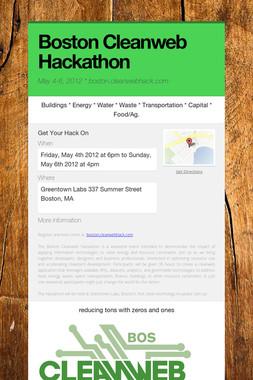 Boston Cleanweb Hackathon