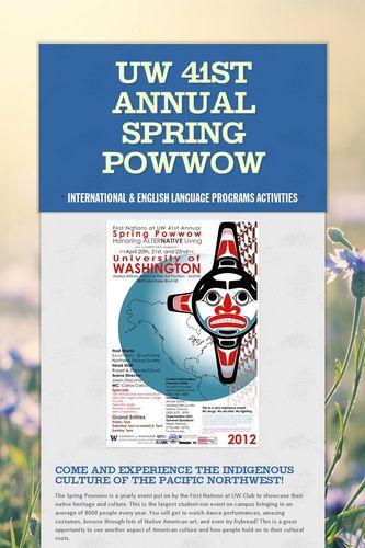 UW 41st Annual Spring Powwow