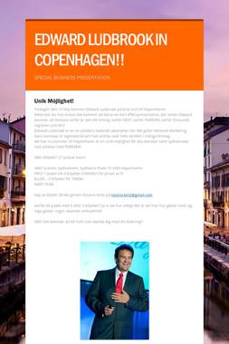 EDWARD LUDBROOK IN COPENHAGEN!!
