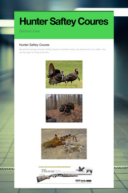 Hunter Saftey Coures