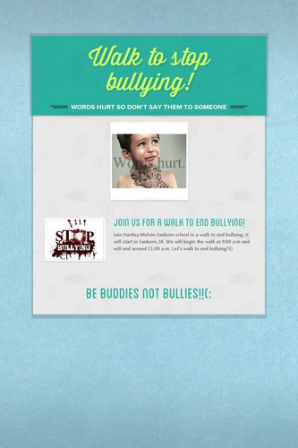 Walk to stop bullying!