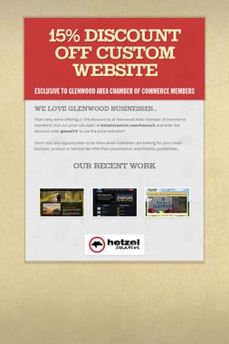 15% Discount off Custom Website