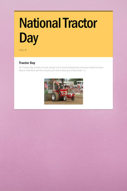 National Tractor Day