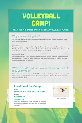 Volleyball Camp!