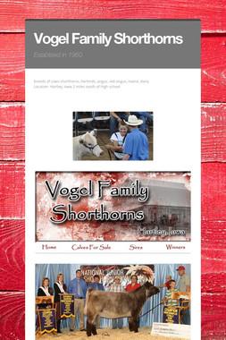 Vogel Family Shorthorns