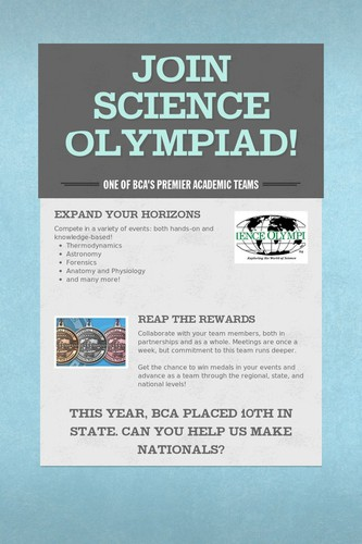 Join Science Olympiad!