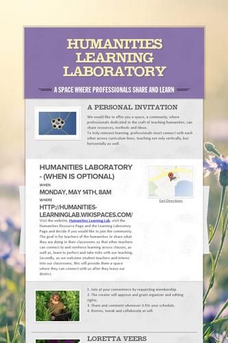 Humanities Learning Laboratory
