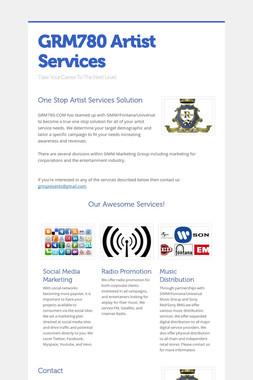GRM780 Artist Services