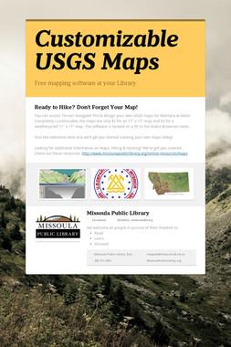 Customizable USGS Maps