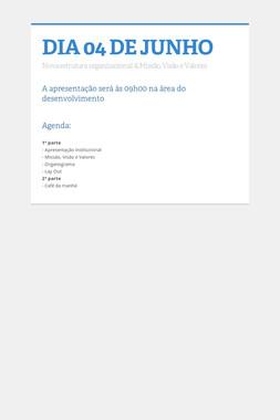 DIA 04 DE JUNHO