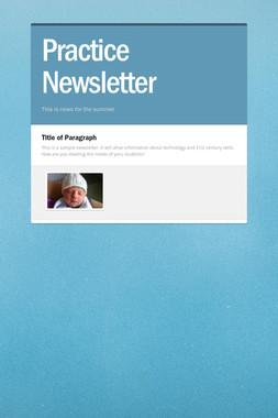 Practice Newsletter