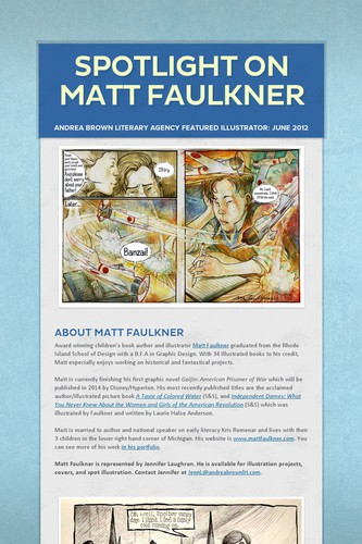 Spotlight on Matt Faulkner