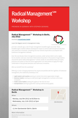 Radical Management℠ Workshop