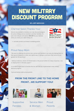 New Military Discount Program