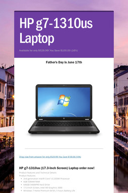 HP g7-1310us Laptop