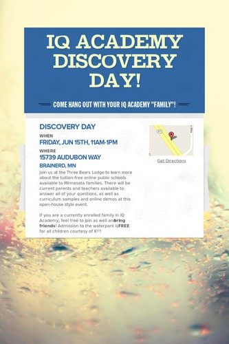 iQ Academy Discovery Day!