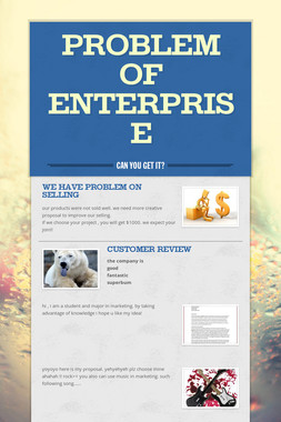 problem of enterprise