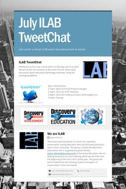 July ILAB TweetChat