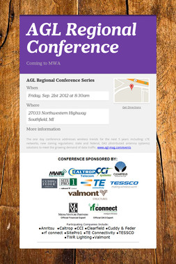 AGL Regional Conference