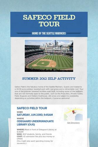 Safeco Field Tour