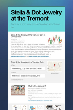 Stella & Dot Jewelry at the Tremont