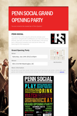 PENN SOCIAL GRAND OPENING PARTY