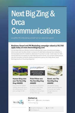 Next Big Zing & Orca Communications