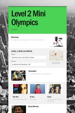 Level 2 Mini Olympics