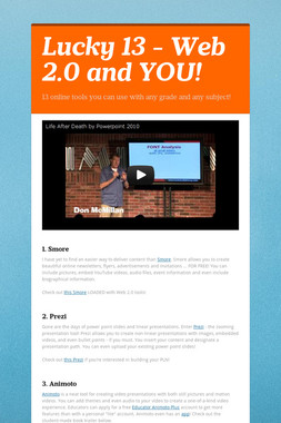 Lucky 13 - Web 2.0 and YOU!