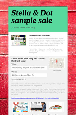 Stella & Dot sample sale