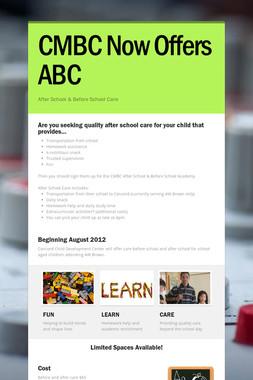 CMBC Now Offers ABC